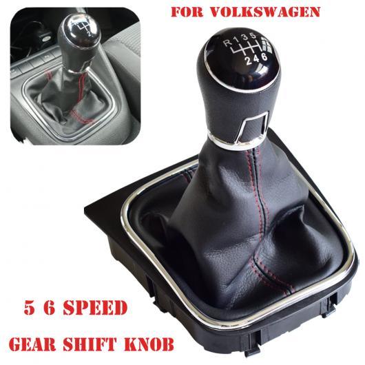AL MT ギア シフト ノブ レバー 5/6速 適用: フォルクスワーゲン VW ゴルフ 5 ゴルフ 6 ゲートル ブーツ レザー カバー 5速・6速 AL-EE-4077
