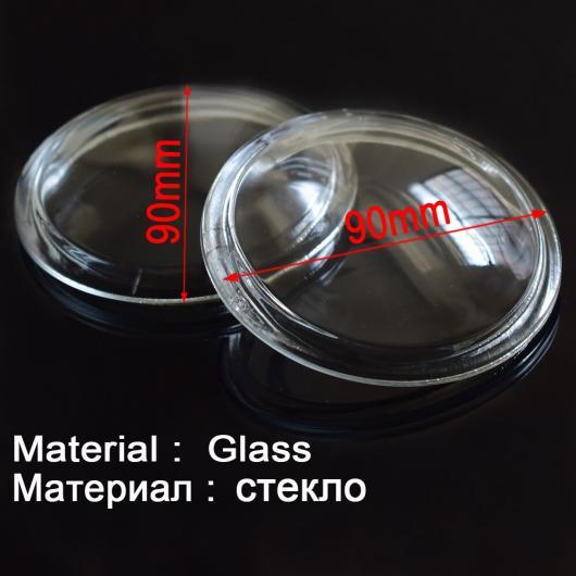 AL 2個セット 直径 90mm フォグ ランプ ライト 強化ガラス 防曇 ガラス 適用: 三菱 L200 アウトランダー パジェロ コルト トライトン ASX AL-EE-4257