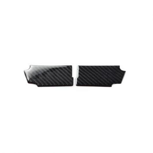 AL カーボンファイバー インナー ドア ハンドル フレーム カバー トリム 2個 適用: フォード マスタング 2015-2017 ドア ボウル 装飾 デカール 2ピース AL-EE-4346