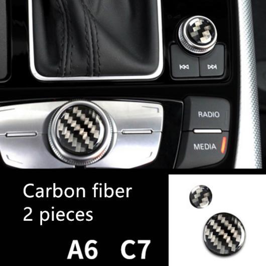 AL カーボンファイバー調 ハンドル ステアリング ホイール 装飾 カバー トリム ステッカー 適用: アウディ A6 C7 2012-2018 ドア ハンドル ストリップ ボタン カバー AL-EE-4725