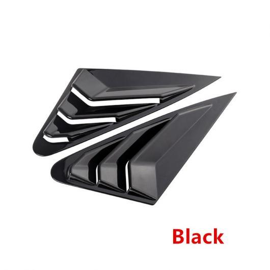 AL カーボンファイバー リア ウインドウ トライアングル パネル 装飾 カバー シャッター ステッカー 適用: アウディ A4 B9 2017-19 ブラック AL-EE-4995
