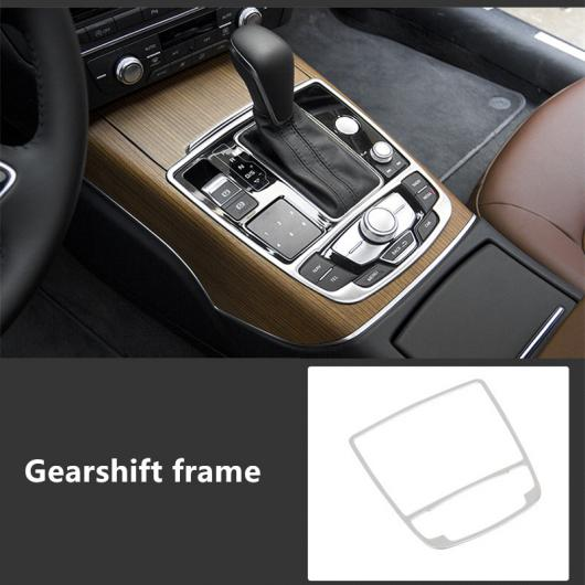 AL コンソール CD パネル ギアシフト 装飾 カバー エア 吹き出し口 フレーム ステッカー 適用: アウディ A7 A6 C7 リア シガーソケット パネル ギアシフト フレーム AL-EE-5063