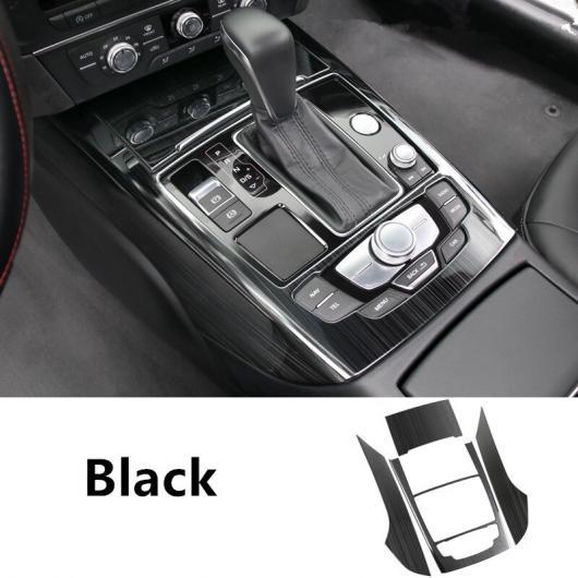 AL コンソール ギア シフト パネル 装飾 フレーム カバー トリム ブラウン ストリップ 適用: アウディ A6 C7 2012-2018 ステッカー ブラック AL-EE-5067