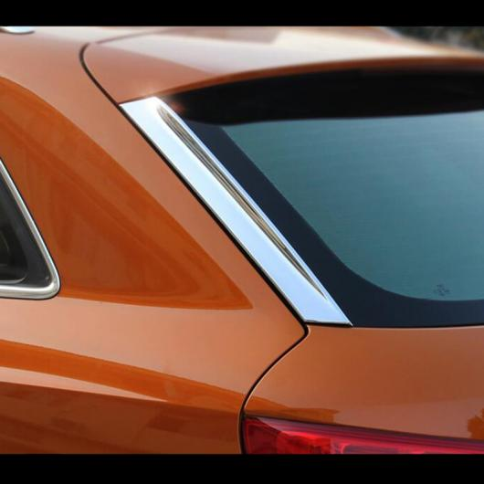 AL クローム テール サイド ウィンド ウイング フレーム カバー リア ウインドスクリーン 装飾 トリム ストリップ 適用: アウディ Q3 2013-2016 AL-EE-4577