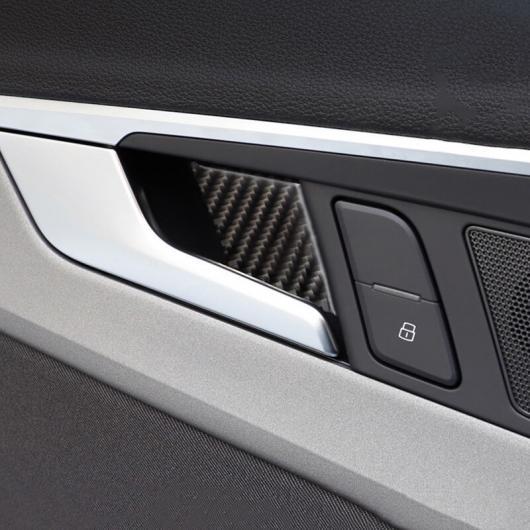 AL カーボンファイバー ドア ボウル フレーム 装飾 カバー ステッカー トリム 適用: アウディ A4 B9 2017-19 AL-EE-4622