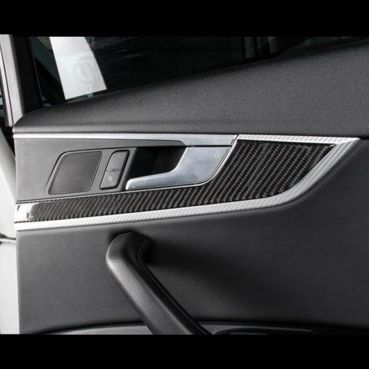 AL カーボンファイバー ドア パネル 装飾 カバー トリム 適用: アウディ A4 B9 2017-2019 ドア ハンドル ステッカー AL-EE-4642