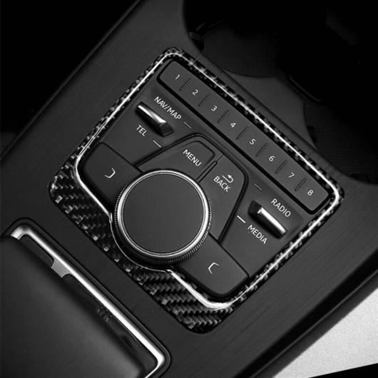 AL カーボンファイバー コンソール ギア マルチメディア コントロール 装飾 フレーム カバー ステッカー トリム 適用: アウディ A4 B9 2017-2019 AL-EE-4655