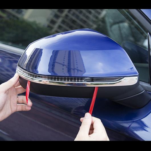 AL サイド ミラー 装飾 フレーム トリム ステンレス スチール ストリップ 適用: アウディ Q5 2017 2018 AL-EE-4670