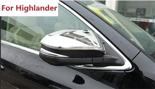 AL 適用: 2014 2015 トヨタ ハイランダー クルーガー XU50 ABS クローム エクステリア サイド ドア ミラー リア ビュー カバー ガーニッシュ トリム AL-EE-5825
