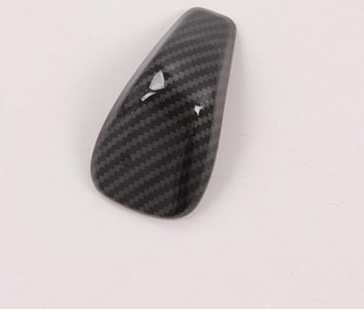 AL 適用: スバル フォレスター 2019 ギア シフト ノブ ヘッド カバー ステッカー インテリア ABS カーボンファイバー ブラック 1ピース AL-EE-5855