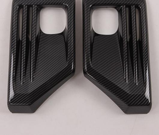 AL 適用: トヨタ RAV4 アドベンチャー 2019 2020 カーボンファイバー フロント リア フォグライト フォグライト ランプ カバー トリム フレーム ステッカー エクステリア AL-EE-5901