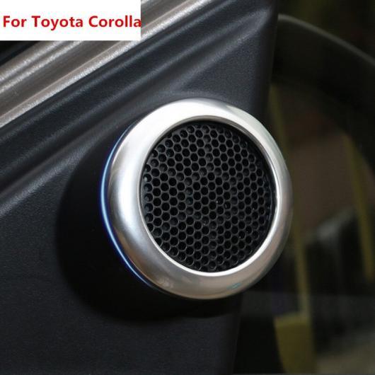 AL 適用: トヨタ カローラ E170 2014 2015 2016 2017ABS クローム インテリア サイド ドア スピーカー ステレオ カバー リング トリム ステッカー 装飾 2ピース AL-EE-5978