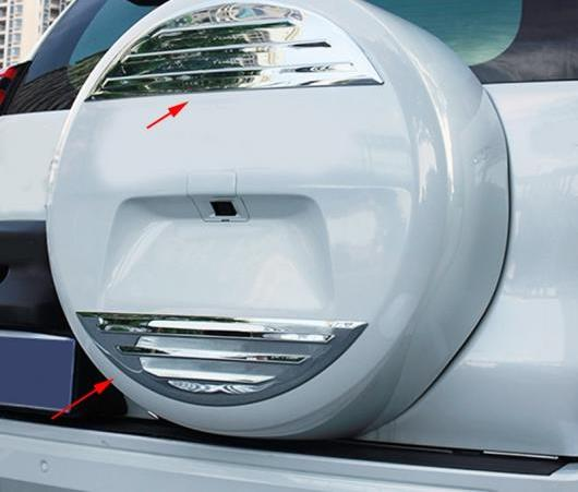 AL 適用: トヨタ クルーザー プラド FJ150 FJ 150 2018 ABS クローム リア スペア タイヤ カバー ストリップ ステッカー 装飾 トリム 2ピース AL-EE-5990