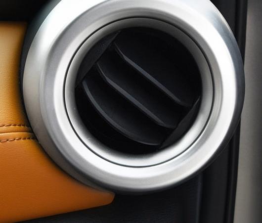 AL 適用: 日産 キックス 2016 2017 2018 オート ABS マット インナー サイド エア 吹き出し口 装飾 フレーム カバー 2ピース ステッカー AL-EE-6133