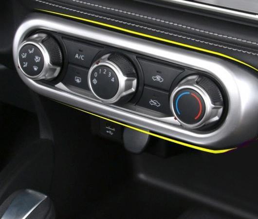 AL 適用: 日産 キックス 2016 2017 2018 オート マット インナー エアコン スイッチ 装飾 フレーム カバー 1ピース ステッカー AL-EE-6135