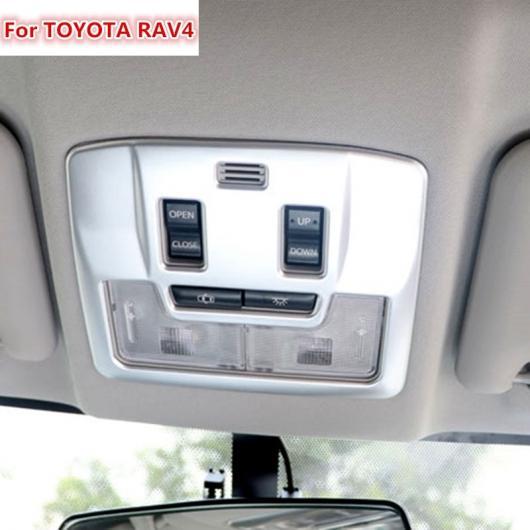 AL 適用: トヨタ RAV4 2016 ABS クローム マット フロント 室内灯 ランプ トリム カバー ガーニッシュ スタイリング 1ピース AL-EE-6161