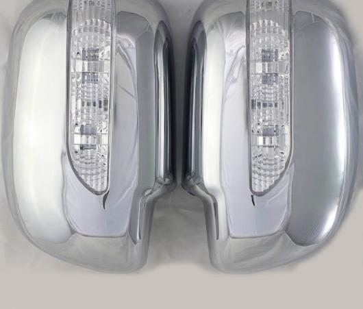 AL 2008-2014 適用: トヨタ イノーバ ABS クローム サイド ミラー カバー トヨタ キジャン イノーバ 2009 2010 2011 2012 2013 2ピース AL-EE-6201