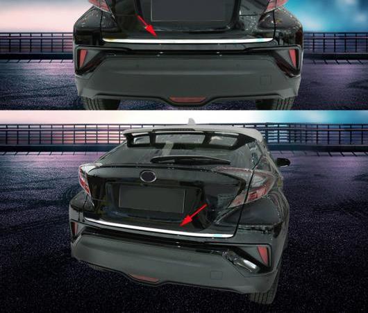 AL 2016 2017 2018 適用: トヨタ C-HR CHR C HR ステンレス リア トランク ブーツ テールゲート ドア メンバー カバー トリム 保護 AL-EE-6246