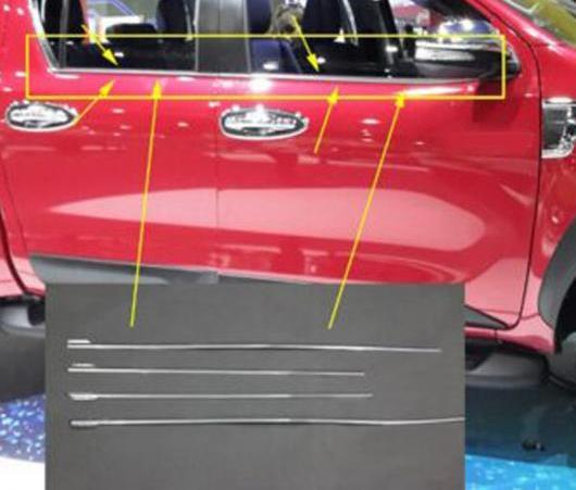 AL 2016-2019 適用: トヨタ ハイラックス ウインドウ ABS クローム ウインドウ ゲート トリム トヨタ ハイラックス レボ クローム トリム AL-EE-6267