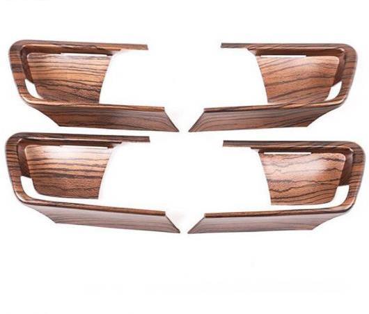 AL 4ピース 木目調 適用: トヨタ ランドクルーザー プラド FJ150 150 2014-2018 年 ABS インテリア ドア ボウル カバー トリム AL-EE-6325