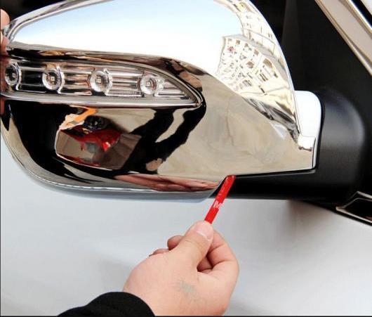 AL ABS クローム エクステリア バックミラー リア ビュー ミラー カバー トリム スタイリング ステッカー 適用: ヒュンダイ IX35 2010 2011 2012-2015 AL-EE-6367