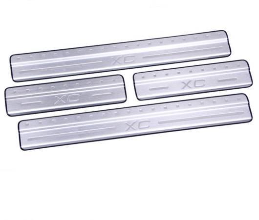 AL ドア シル/スカッフ プレート 304 ステンレス スチール ドア シル エクステリア 4ピース ブランド 2009-2015 適用: ボルボ XC60 AL-EE-6635