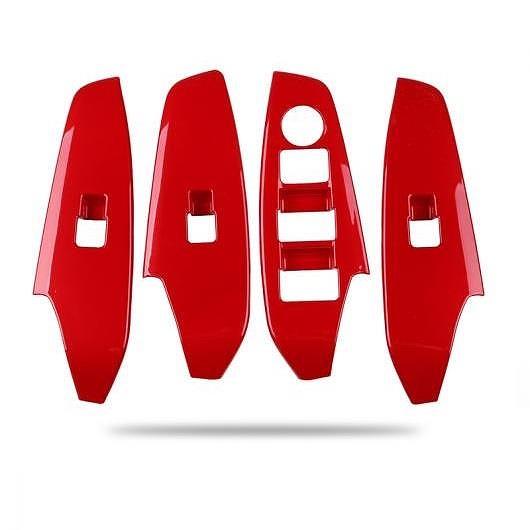 AL 適用: MAZDA3 マツダ 3 アクセラ 2014-2017 ウインドウ コントロール パネル ガラス リフター スイッチ カバー トリム 保護 ガラス スイッチ レッド AL-EE-6716