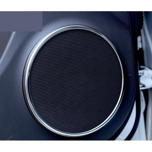 AL 適用: シボレー クルーズ 2009-2015 ディテクター インサイド オーディオ スピーカー サウンド リング サークル ランプ トリム 装飾 シルバー AL-EE-6778