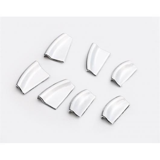 AL 適用: テスラ モデル X 2014-2018 ウインドウ リフト スイッチ 装飾 ステッカー プッシュ ボタン トリム カバー クローム シルバー AL-EE-6865