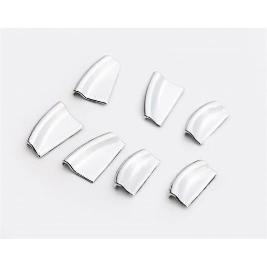 AL 適用: テスラ モデル S 2014-2018 ウインドウ リフト スイッチ 装飾 ステッカー プッシュ ボタン トリム カバー クローム PER セット シルバー AL-EE-6887