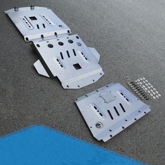 AL 適用: トヨタ ランドクルーザー LC200 2008-2018 エンジン アンダー ガード プレート プロテクター カバー 保護 金属 オイルパン シールド 4ピース AL-EE-6991
