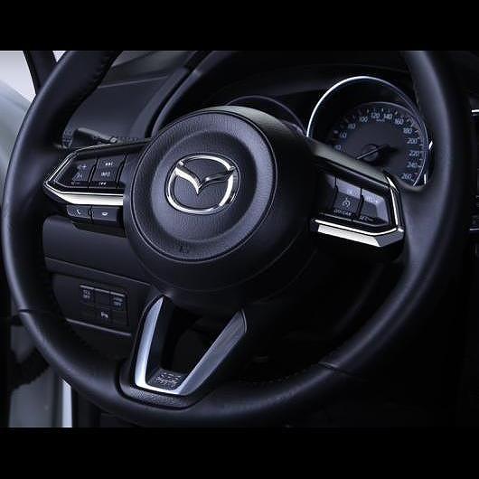 AL 適用: MAZDA3 マツダ 3 アクセラ 2014-2017 ABS クローム ステアリング ホイール トリム インテリア スパンコール レッド・カーボン ブラック AL-EE-6713