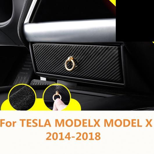 AL 適用: テスラ モデル X 2014-2018 サングラス 眼鏡 ストレージ ケース ボックス ホルダー バイザー クリップ カーボンファイバー・木目調 AL-EE-6873