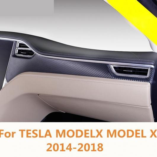 AL 適用: テスラ モデル X 2014-2018 センター コンソール コントロール ギア パネル トリム 保護 フィルム ステッカー カーボンファイバー~トランスペアレント HK AL-EE-6875