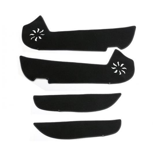 AL 適用: トヨタ カローラ 2014-17 プロテクター サイド エッジ 保護 アンチキック ドア マット カバー ケース 装飾 ブラック・レッド AL-EE-6968