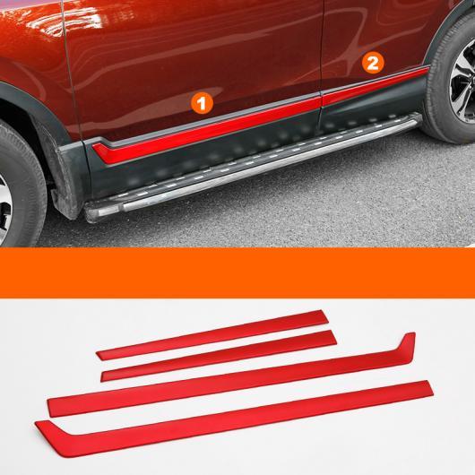 AL 適用: ホンダ CRV C-RV 2017 2018 クローム ABS ドア サイド ライン ガーニッシュ ボディ カバー プロテクター トリム 装飾 レッド スタイル AL-EE-7124
