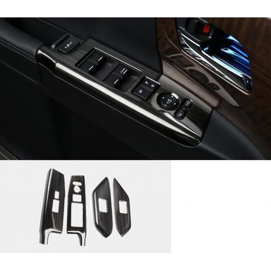 AL 適用: ホンダ オデッセイ 2015-18 インナー ドア ウインドウ リフト ボタン スイッチ パネル カバー トリム 装飾 ブラック 4ピース AL-EE-7161