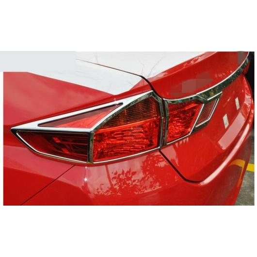 Rear Light Lamp Cover Trim 6pcs For Honda City 2014 2015 2016 ABS Chrome Front