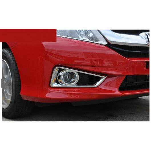 AL 適用: ホンダ シティ 2014-2018 フロント フォグランプ シールド カバー トリム ABS クローム 装飾 フロント フォグライト AL-EE-7219