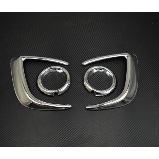 AL 適用: 三菱 ASX 2013-2015 リア フォグライト フロント カバー トリム ストリップ ABS クローム フレーム ランプ 装飾 フロント フォグ ランプシェード AL-EE-7309