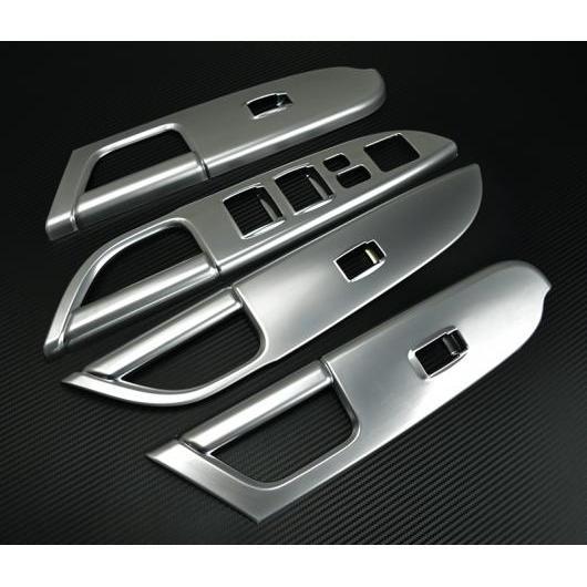 AL 適用: 三菱 ASX 2013-2018 インテリア インナー ドア ウインドウ リフト ボタン スイッチ パネル カバー トリム 装飾 アクセサリー シルバー AL-EE-7313