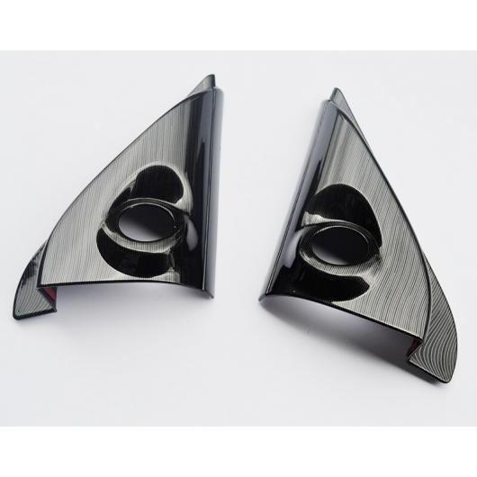 AL 適用: 三菱 アウトランダー 2013-2017 ABS クローム カーボンファイバー ミドル CD センター コントロール ストライプ ホーン フレーム AL-EE-7334