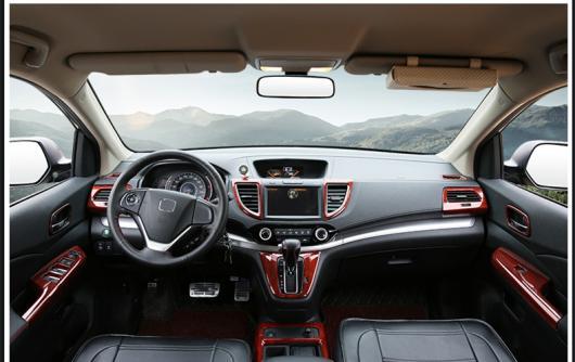 AL 適用: ホンダ CRV CR-V 2012-2016 ABS 木目調 ダッシュ カバー ギア パネル トリム キット フル セット 装飾 スタイル 1・スタイル 4 AL-EE-7109