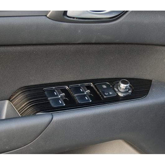 AL 適用: マツダ CX-5 CX5 CX 5 2017 2018 2019 インナー ドア ウインドウ リフト ボタン スイッチ パネル カバー トリム ブラック・ブルー AL-EE-7265
