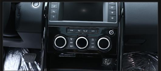 AL 適用: ランド ローバー ディスカバリー 5 2017 2018 セントラル コントロール エア コンディション ボタン ノブ 装飾 アルミニウム 合金 パッチ ブラック・シルバー AL-EE-7303