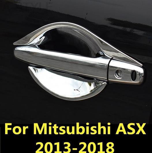 AL 適用: 三菱 ASX 2013-2018 インナー ドア ハンドル カバー ボウル フレーム トリム ステッカー ブレイド ハンドル シルバー 1・ハンドル シルバー 2 AL-EE-7316