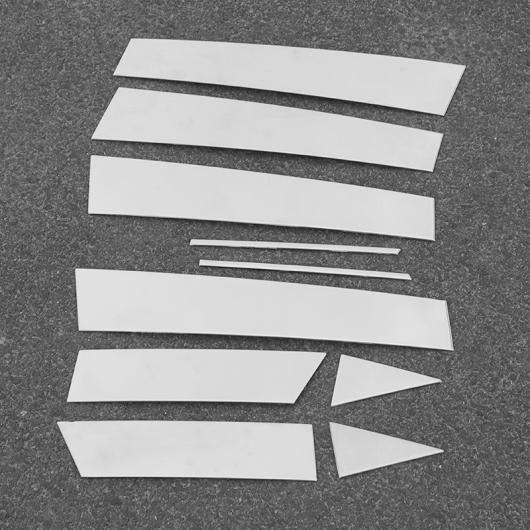 AL 適用: 日産 キャシュカイ デュアリス J11 2014-2017 ステンレス スチール ウインドウ ピラー ポスト カバー トリム ステッカー シルバー 10ピースセット AL-EE-7379