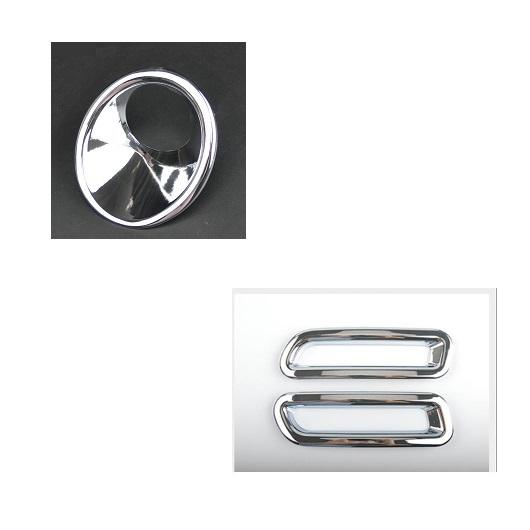 AL 適用: スズキ ビターラ 2016-2018 2ピース クローム ABS フロント フォグランプ フレーム 装飾 カバー トリム フロント&リア AL-EE-7418