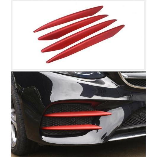 AL 適用: メルセデス ベンツ E クラス W213 E200 E300 E320 2016-2018 2ピース クローム ABS フロント フォグランプ フレーム 装飾 カバー トリム レッド AL-EE-7559