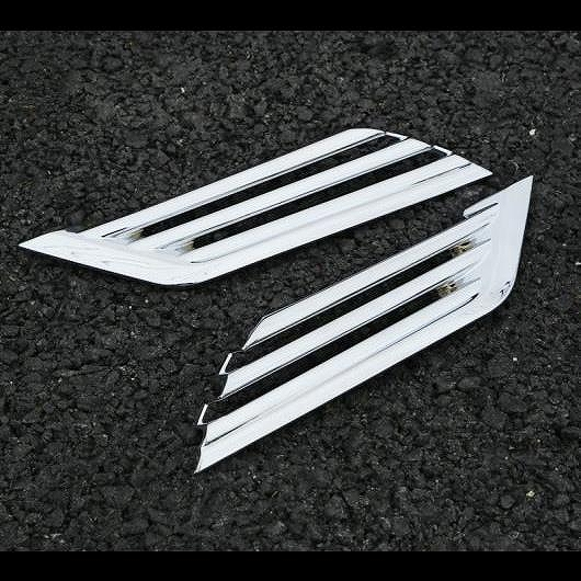 AL 適用: 日産 キャシュカイ デュアリス J11 2014-2017 2ピース ABS クローム フロント フォグランプ フレーム 装飾 カバー トリム シルバー AL-EE-7588